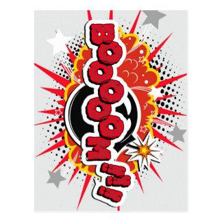 Comic Book Pop Art Boom Explosion Postcard