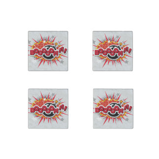 Comic Book Pop Art Boom Explosion Stone Magnet