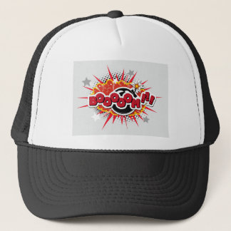 Comic Book Pop Art Boom Explosion Trucker Hat