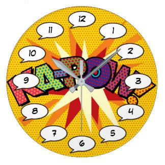 Comic Book Pop Art KA-POW Large Clock