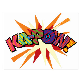 Comic Book Pop Art KA-POW! Postcard