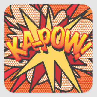 Comic Book Pop Art KA-POW! Square Sticker