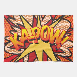 Comic Book Pop Art KA-POW! Tea Towel