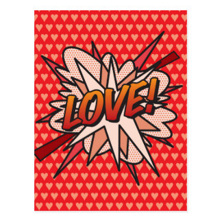 Comic Book Pop Art LOVE! Postcard