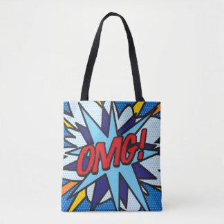 Comic Book Pop Art OMG! Tote Bag