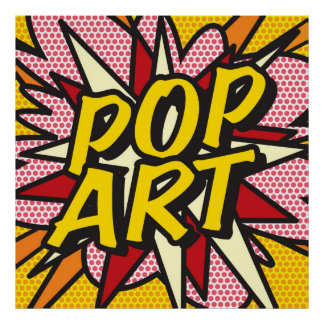 Comic Book POP ART Poster