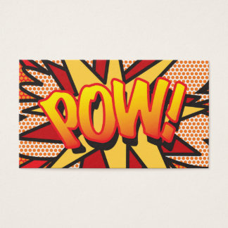 Comic Book Pop Art POW! Business Card