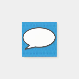 Comic Book Pop Art Speech Bubble Post-it Notes