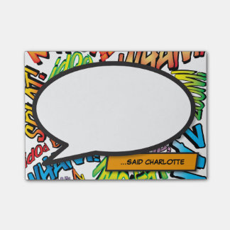 Comic Book Pop Art Speech Bubble Post-it Notes
