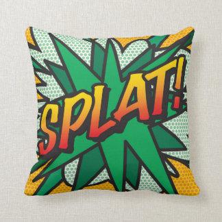 Comic Book Pop Art SPLAT! Throw Pillow