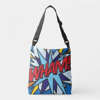 Comic Book Pop Art WHAM! BANG! Crossbody Bag
