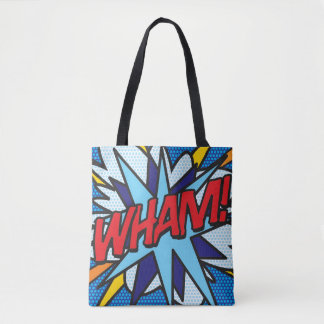 Comic Book Pop Art WHAM! BANG! Tote Bag