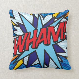 Comic Book Pop Art WHAM! OMG! Cushion