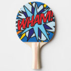 Comic Book Pop Art WHAM! Ping Pong Paddle