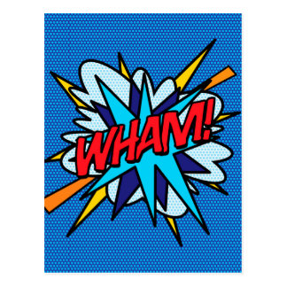 Comic Book Pop Art WHAM! Postcard