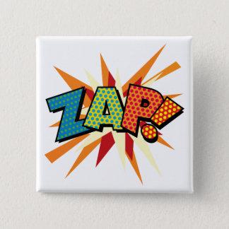 Comic Book Pop Art ZAP! 15 Cm Square Badge