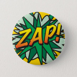 Comic Book Pop Art ZAP! 6 Cm Round Badge