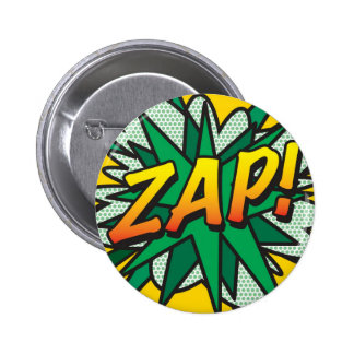 Comic Book Pop Art ZAP! 6 Cm Round Badge