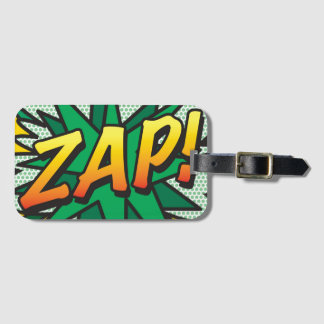 Comic Book Pop Art ZAP! personalised Luggage Tag