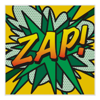 Comic Book Pop Art ZAP! Poster