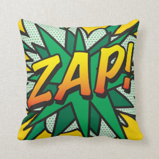 Comic Book Pop Art ZAP! POW! Cushion