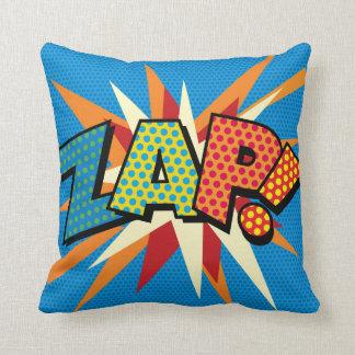 Comic Book Pop Art ZAP! POW! Throw Pillow