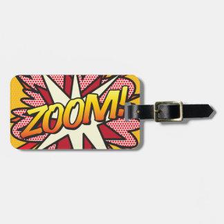 Comic Book Pop Art ZOOM! personalised Luggage Tag