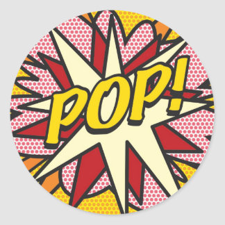 Comic Book POP! Round Sticker