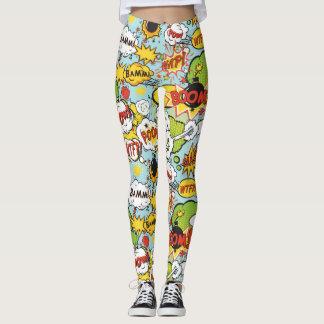 Comic Book Sayings leggings