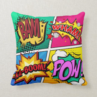 Comic Book Sound Effects Cushion
