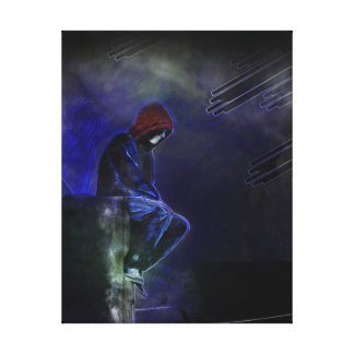 Comic-Book Style Stretched Canvas Print