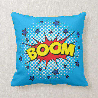 Comic Book Style Colorful BOOM Cushion