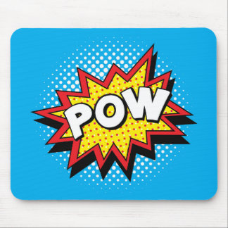 Comic Book Style Colorful POW Mouse Pad