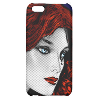 Comic Book Style Redhead iPhone 5C Cases