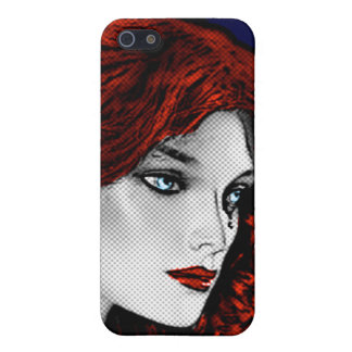 Comic Book Style Redhead iPhone 5 Cover