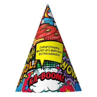 Comic Book Superhero Birthday Party Custom Party Hat