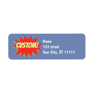Comic Book Superhero Return Address Label