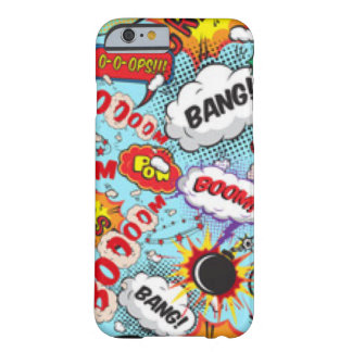 Comic Book Text & Word Bubbles Barely There iPhone 6 Case