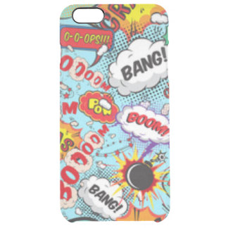 Comic Book Text & Word Bubbles Clear iPhone 6 Plus Case