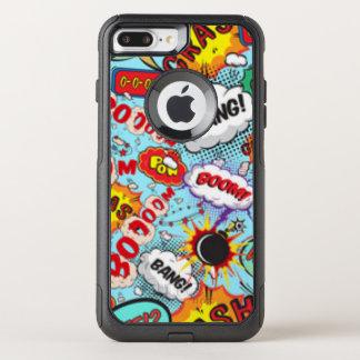Comic Book Text & Word Bubbles OtterBox Commuter iPhone 8 Plus/7 Plus Case
