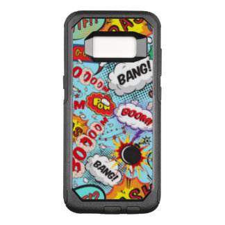 Comic Book Text & Word Bubbles OtterBox Commuter Samsung Galaxy S8 Case