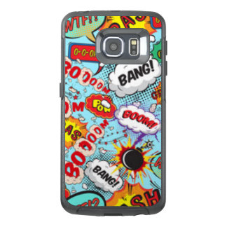 Comic Book Text & Word Bubbles OtterBox Samsung Galaxy S6 Edge Case