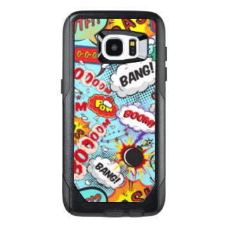 Comic Book Text & Word Bubbles OtterBox Samsung Galaxy S7 Edge Case