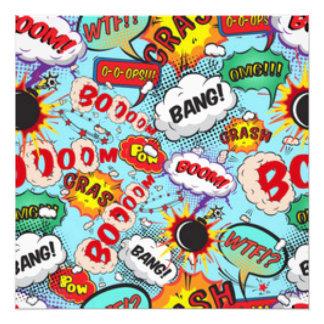Comic Book Text & Word Bubbles Photo Print