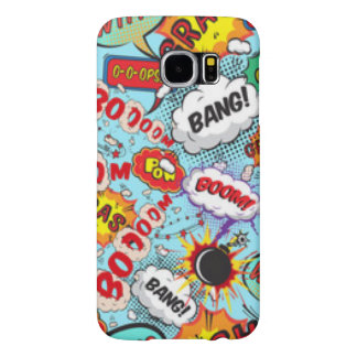 Comic Book Text & Word Bubbles Samsung Galaxy S6 Cases