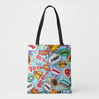 Comic Book Text & Word Bubbles Tote Bag