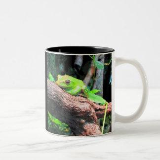 Comic Book Tree Frog Two-Tone Mug