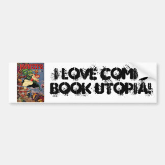 Comic Book Utopia Monster Bumper Sticker