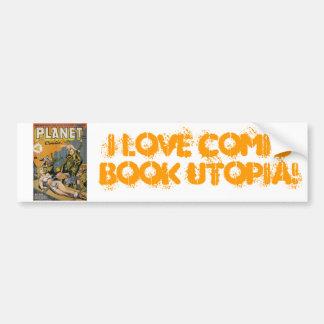 Comic Book Utopia PC Bumper Sticker