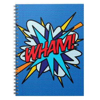 Comic Book WHAM! Spiral Note Book